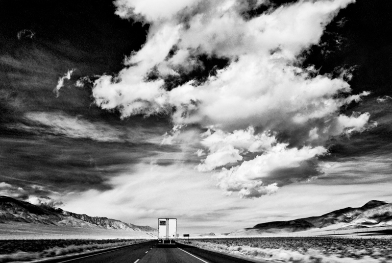 Sky, Desert, Truck - Highway 395 Near Coso Junction, CA - 2012 from Flirting with Disaster Series by Osceola Refetoff